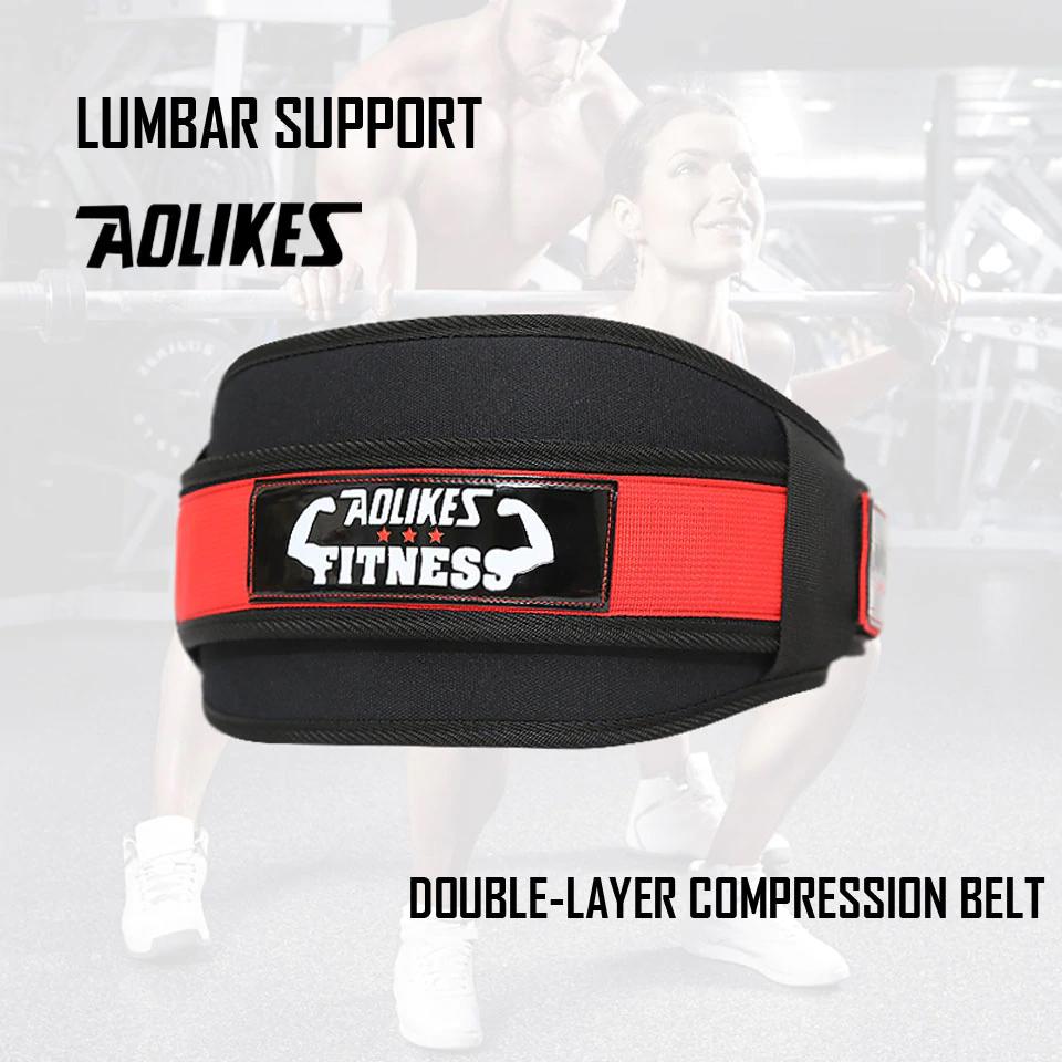 Đai lưng gánh tạ tập gym chuyên nghiệp Aolikes A-7983