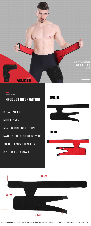 Đai bảo vệ đùi AOLIKES A-7958 giảm chấn thương chống căng cơ Sport protection